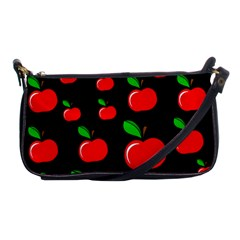 Red Apples  Shoulder Clutch Bags by Valentinaart