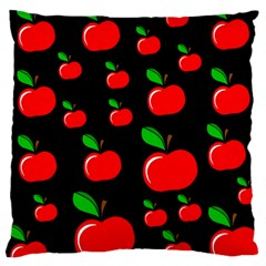 Red Apples  Large Cushion Case (two Sides) by Valentinaart