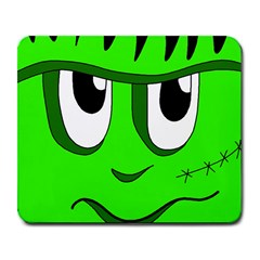 Halloween Frankenstein   Green Large Mousepads by Valentinaart