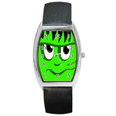 Halloween Frankenstein   Green Barrel Style Metal Watch by Valentinaart