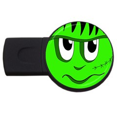 Halloween Frankenstein   Green Usb Flash Drive Round (4 Gb)