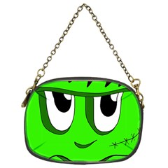 Halloween Frankenstein   Green Chain Purses (two Sides)  by Valentinaart