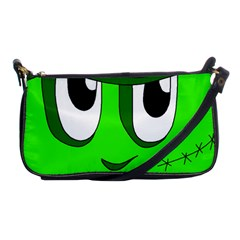 Halloween Frankenstein   Green Shoulder Clutch Bags by Valentinaart