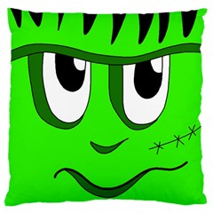 Halloween Frankenstein   Green Large Cushion Case (one Side) by Valentinaart