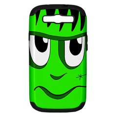 Halloween Frankenstein   Green Samsung Galaxy S Iii Hardshell Case (pc+silicone) by Valentinaart