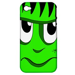 Halloween Frankenstein   Green Apple Iphone 4/4s Hardshell Case (pc+silicone) by Valentinaart