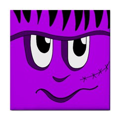 Halloween   Purple Frankenstein Tile Coasters by Valentinaart