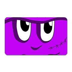 Halloween   Purple Frankenstein Magnet (rectangular) by Valentinaart