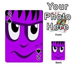 Halloween   Purple Frankenstein Playing Cards 54 Designs