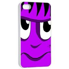 Halloween   Purple Frankenstein Apple Iphone 4/4s Seamless Case (white) by Valentinaart