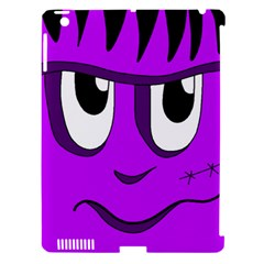 Halloween   Purple Frankenstein Apple Ipad 3/4 Hardshell Case (compatible With Smart Cover) by Valentinaart