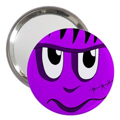 Halloween   Purple Frankenstein 3  Handbag Mirrors by Valentinaart