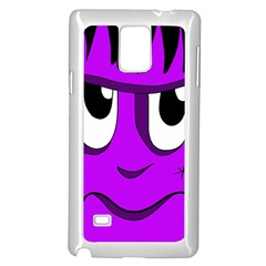 Halloween   Purple Frankenstein Samsung Galaxy Note 4 Case (white) by Valentinaart