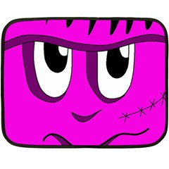 Halloween   Pink Frankenstein Fleece Blanket (mini) by Valentinaart