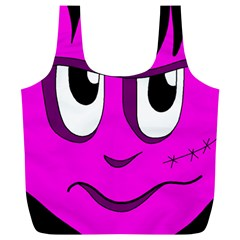 Halloween   Pink Frankenstein Full Print Recycle Bags (l)  by Valentinaart