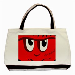 Halloween Frankenstein   Red Basic Tote Bag by Valentinaart
