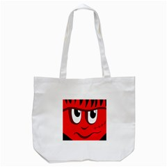 Halloween Frankenstein   Red Tote Bag (white)