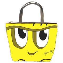 Halloween Frankenstein   Yellow Bucket Bags