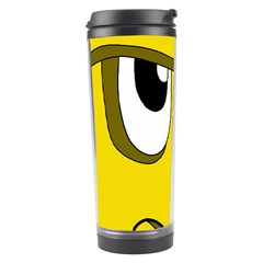 Halloween Frankenstein   Yellow Travel Tumbler