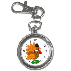 Thanksgiving Turkey   Transparent Key Chain Watches by Valentinaart