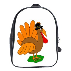 Thanksgiving Turkey   Transparent School Bags(large)  by Valentinaart