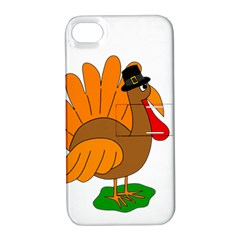 Thanksgiving Turkey   Transparent Apple Iphone 4/4s Hardshell Case With Stand by Valentinaart