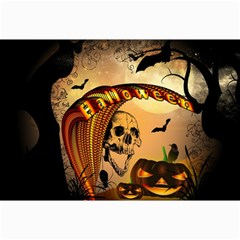 Halloween, Funny Pumpkin With Skull And Spider In The Night Collage Prints