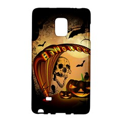 Halloween, Funny Pumpkin With Skull And Spider In The Night Galaxy Note Edge by FantasyWorld7
