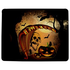 Halloween, Funny Pumpkin With Skull And Spider In The Night Jigsaw Puzzle Photo Stand (rectangular) by FantasyWorld7