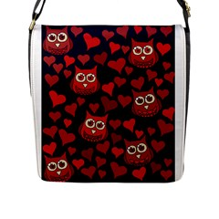 Owl You Need In Love Owls Flap Messenger Bag (l)  by BubbSnugg