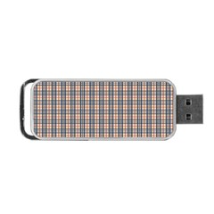 Chequered Plaid Portable Usb Flash (two Sides) by olgart