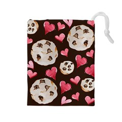 Chocolate Chip Cookies Drawstring Pouches (large)  by BubbSnugg