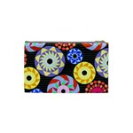 Colorful Retro Circular Pattern Cosmetic Bag (XS) Back