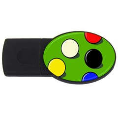 Billiard  Usb Flash Drive Oval (4 Gb)