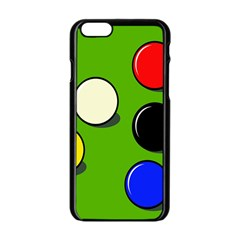 Billiard  Apple Iphone 6/6s Black Enamel Case by Valentinaart