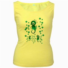 Seahorsesb Women s Yellow Tank Top by vanessagf