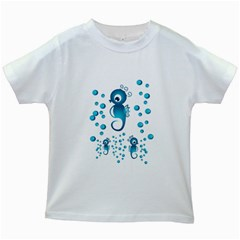Seahorsesb Kids White T Shirts