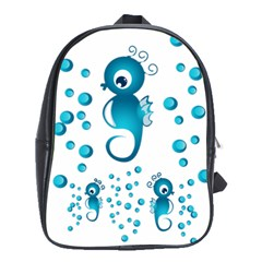 Seahorsesb School Bags(large)  by vanessagf