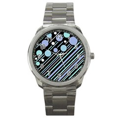 Blue Transformation Sport Metal Watch by Valentinaart