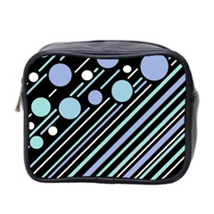 Blue Transformation Mini Toiletries Bag 2 Side by Valentinaart