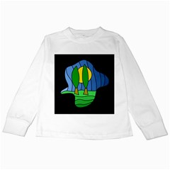 Landscape Kids Long Sleeve T Shirts by Valentinaart