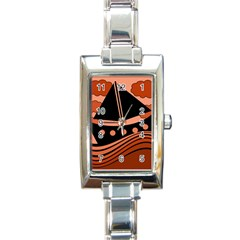 Boat   Red Rectangle Italian Charm Watch by Valentinaart