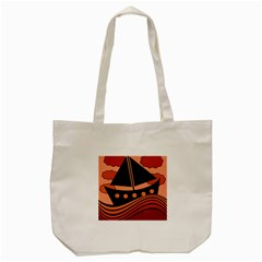 Boat   Red Tote Bag (cream) by Valentinaart