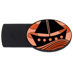 Boat   Red Usb Flash Drive Oval (4 Gb)  by Valentinaart