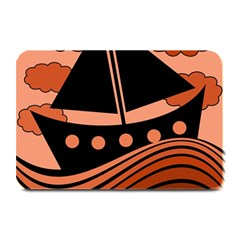 Boat   Red Plate Mats by Valentinaart