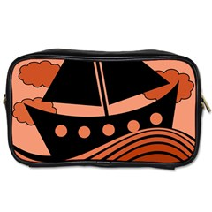Boat   Red Toiletries Bags 2 Side