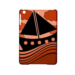 Boat   Red Ipad Mini 2 Hardshell Cases by Valentinaart