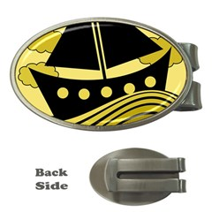 Boat   Yellow Money Clips (oval)  by Valentinaart