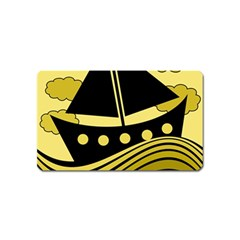 Boat   Yellow Magnet (name Card)