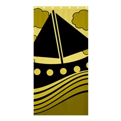 Boat   Yellow Shower Curtain 36  X 72  (stall)  by Valentinaart